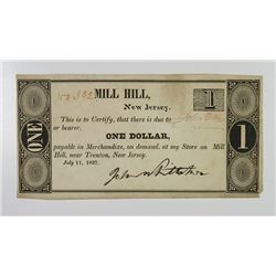 Mill Hill Near Trenton, John Whittaker. 1837. Obsolete Note.
