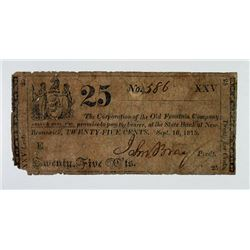 Old Fountain Co. 1815 Obsolete Scrip Note Rarity