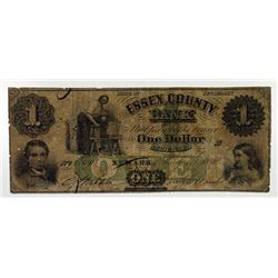 Essex County Bank. 1859. Obsolete Note.