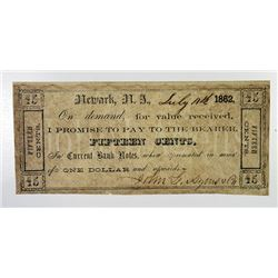 John L. Agens & Co. 1862. Obsolete Note.