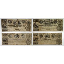 Mechanics' Hall Association. 1837 Obsolete Scrip Note Quartet.