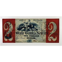 State Bank at Newark. 1862 Obsolete Banknote.