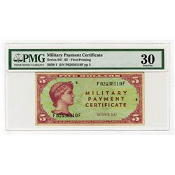 Military Payment Certificate, Series 541, $5 First Printing (1958-61).