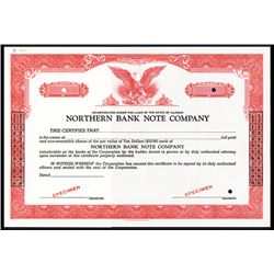 Northern Bank Note Co., ca.1950-1960 Specimen Stock Certificate