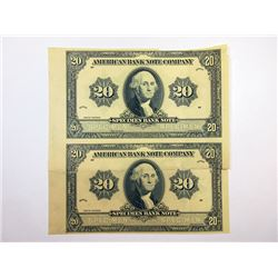 "American Bank Note Co., 1920 (ca.1960-70) Advertising ""Specimen Bank Note"" Pair."