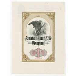 American Bank Note Co., ND (ca.1900-1920) Letterhead with ABN Cover Sheet Specimen.