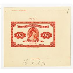 American Bank Note Company 1921 Litho Color sample Sheet Printed in Reverse.