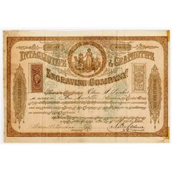 Intaglio type & Graphotype Engraving Co. , 1865 I/U Stock Certificate.