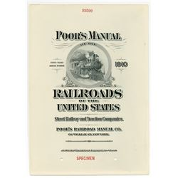 Poor's Manual of the Railroads of the United States, 1910 Specimen Advertising Page by ABNC.