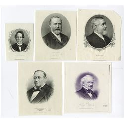 Proof Vignettes of Notable Gentleman by ABNC, CBNC and NBNC ca.1840-1880s.