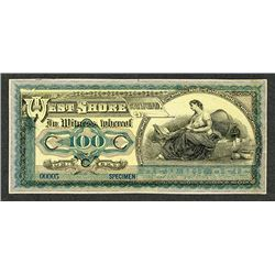 ABN Experimental Advertising Banknote Modeled After Brazil Banknote, ca.1900-20's.
