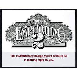 Crane's Emporium #2 paper with bold intaglio print.