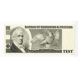 Bureau of Engraving & Printing, ca.1980-1990 Proof Advertising Note.