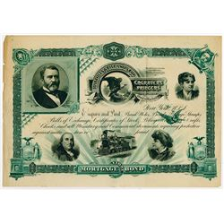 Baldwin & Gleason Co. Engravers Printers on Celluloid, ca.1880-90's Advertising Stock Certificate.