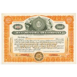 REO Motor Car Co., ca.1910-1920 Specimen Stock Certificate