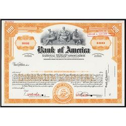 Bank of America National Trust and Savings Association, 1920's Specimen Stock Certificate.