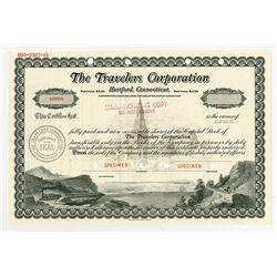 Travelers Corp., 1968 Specimen Stock Certificate
