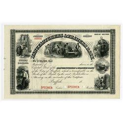 Manufacturers & Traders Bank, 1898 Specimen Stock Certificate