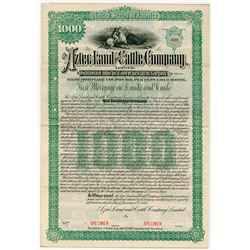 Aztec Land and Cattle Co., 1887 Specimen Bond
