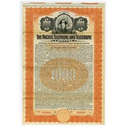 Pacific Telephone and Telegraph Co., 1907 Specimen Bond