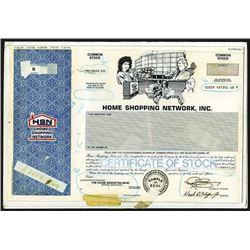 "Home Shopping Network, Inc., ""HSN"" 1990 Unique Mockup Progress Proof Stock Certificate"