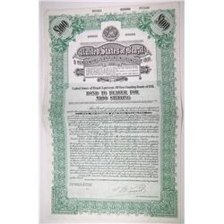 United States of Brazil 5% 40 year Funding Bonds of 1931 Specimen Bond
