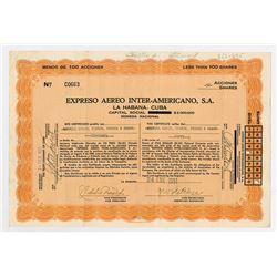 Expreso Aereo Inter-Americano, S.A., 1951 I/U Stock Certificate