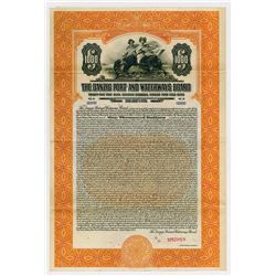 Danzig Port and Waterways Board, 1927 Specimen Bond