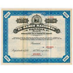El Banco Nacional Panama 1923 Specimen Bond.
