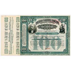 Credito y Ahorro Ponceno Sociedad Anonima 1895 Specimen Bond.