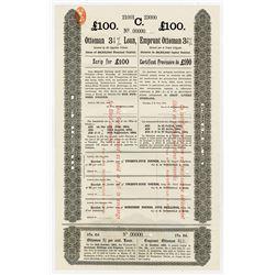 Ottoman 3 1/2% Loan, 1894 Specimen Scrip Certificate.