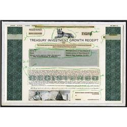 Treasury Investment Growth Receipt, 1982  Unique Mockup Progress Proof Bond