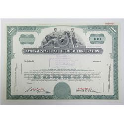 National Starch and Chemical Corp., 1966 Specimen Stock Certificate