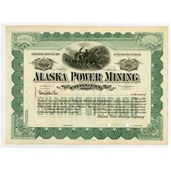 Alaska Power Mining Co., ca.1910-1920 Specimen Stock Certificate