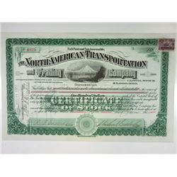 North American Transportation and Trading Co., 1900 Stock Certificate.