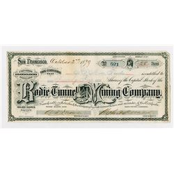 Bodie Tunnel and Mining Co., 1879 Stock Certificate