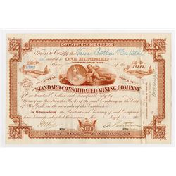Standard Consolidated Mining Co., 1887 Stock Certificate