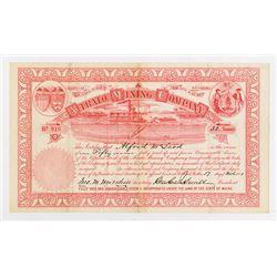 Atrato Mining Co., 1881 I/U Stock Certificate