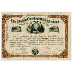 Little Pittsburgh Consolidated Mining Co., 1887 Stock Certificate