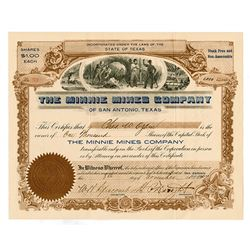 Minnie Mines Co., 1907 Issued Stock Certificate.