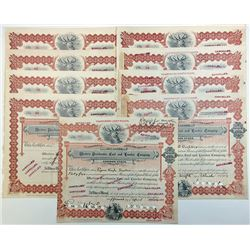 Selection of 9 Western Pocahontas Coal & Lumber Company Shares 1903