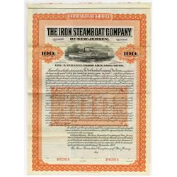 Iron Steamboat Co. of New Jersey, 1902 Specimen Bond