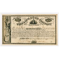 The Long Dock Co., 1872 Issued Stock Certificate.