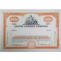 United Carbon Co., ca.1950-1960 Specimen Stock Certificate