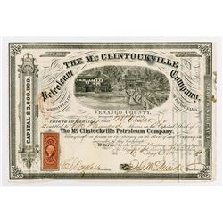McClintockville Petroleum Co., 1967 Stock Certificate