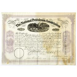 National Petroleum Association, 1866 Stock Certificate.