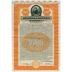 Arizona Eastern Railroad Co.,1910 Specimen Bond