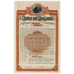 Denver and Rio Grande Railroad Co., 1888 Specimen Bond
