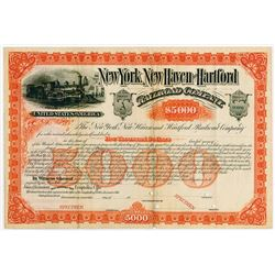 New York, New Haven and Hartford Railroad Co. ca.1880-1900 Specimen Bond.
