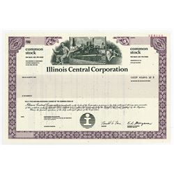 Illinois Central Corp., 1990 Specimen Stock Certificate